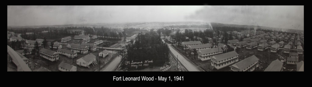View of Fort Leonard Wood a month before the training post was completed. Photo taken of the panoramic original by Richard B. Mayes.