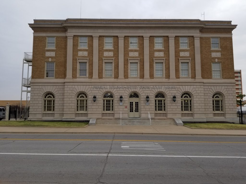 The Federal Court House in Lawton, Oklahoma.