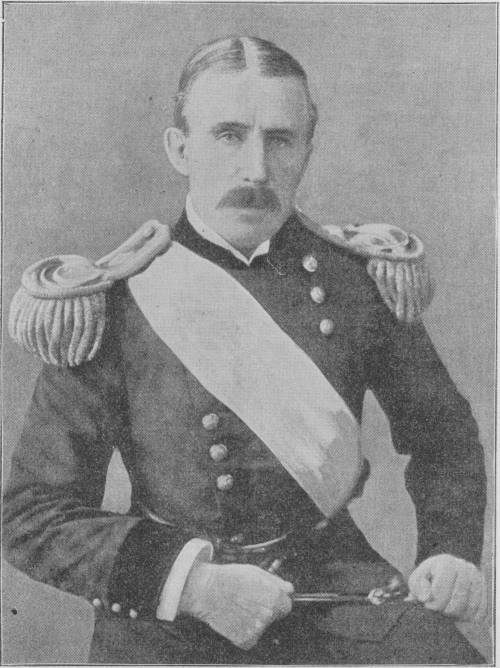 Major General Leonard Wood, of the United States Volunteer, Military Governor of the Province of Santiago de Cuba. Photo by Miss Frances B. Johnston, published in the Buffalo Medical Journal, April 1899.