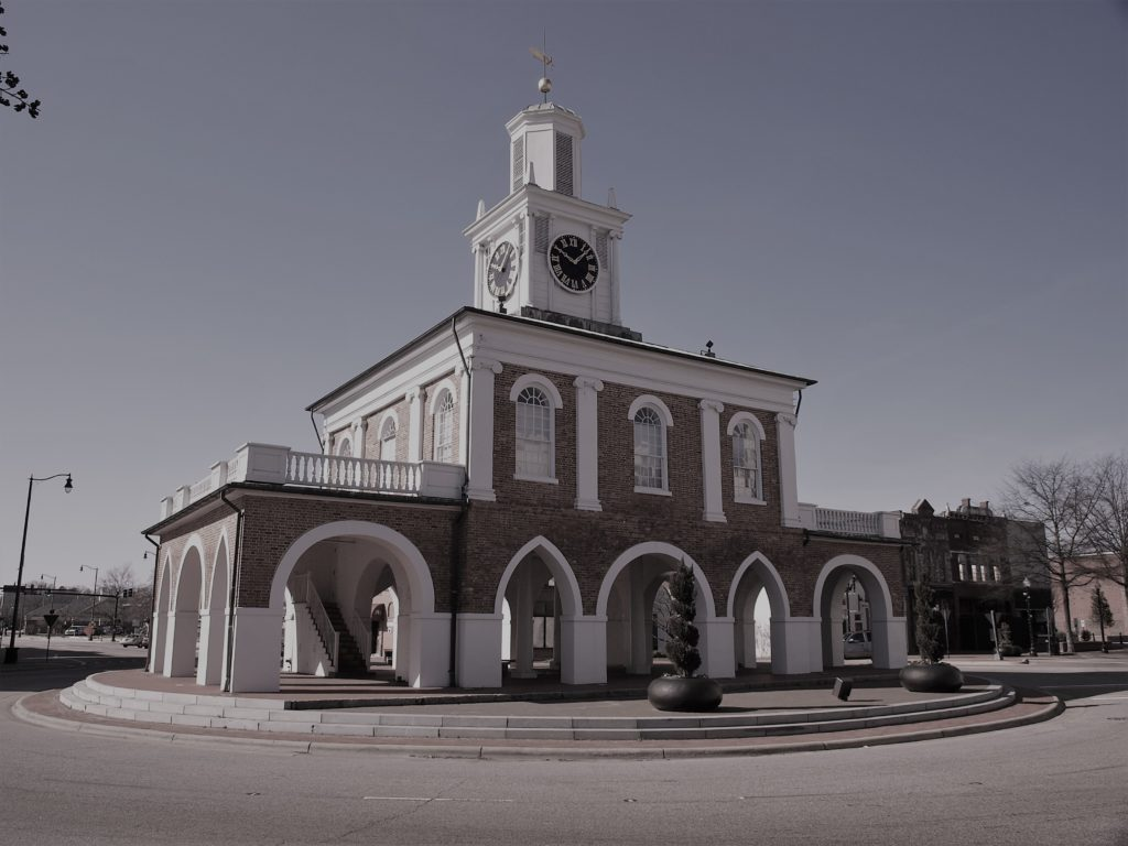 The Market House, formerly known as the State House, is where North Carolina chartered the University of North Carolina and ratified the U.S. Constitution.