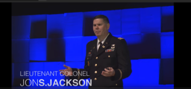 Military lawyer and former Deputy Chief of Office of Defense Counsel for Military Commissions Jon Jackson give a lecture in 2015 on torture during Ted Talks series in Memphis