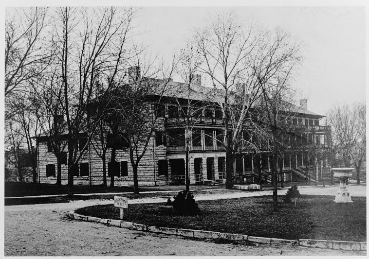 Historic American Buildings Survey, C., U.S. Department Of The Army, Arnold, A. K., Elliott, American Radiator Company, Pond, G. E. & Shockley, D. M., Sanders, T., Fraser, F. & Rice, J. L., photographer. (1933) Fort Riley, Arnold Hall, Arnold Avenue, Riley, Riley County, KS. Fort Riley Geary Kansas Riley Riley County, 1933. Documentation Compiled After. [Photograph] Retrieved from the Library of Congress, https://www.loc.gov/item/ks0165/. Arnold Hall was built during the major construction period at Fort Riley between 1880 and 1910. In its building materials, structural engineering, and layout, Arnold Hall was highly representative of residential quarters on the Army post. It and other buildings of the period contributed to the development of standardized Army housing. Arnold Hall was named for Abraham Arnold, a late Nineteenth Century post commander, hero of the Civil War, and first president of the United States Cavalry Association.