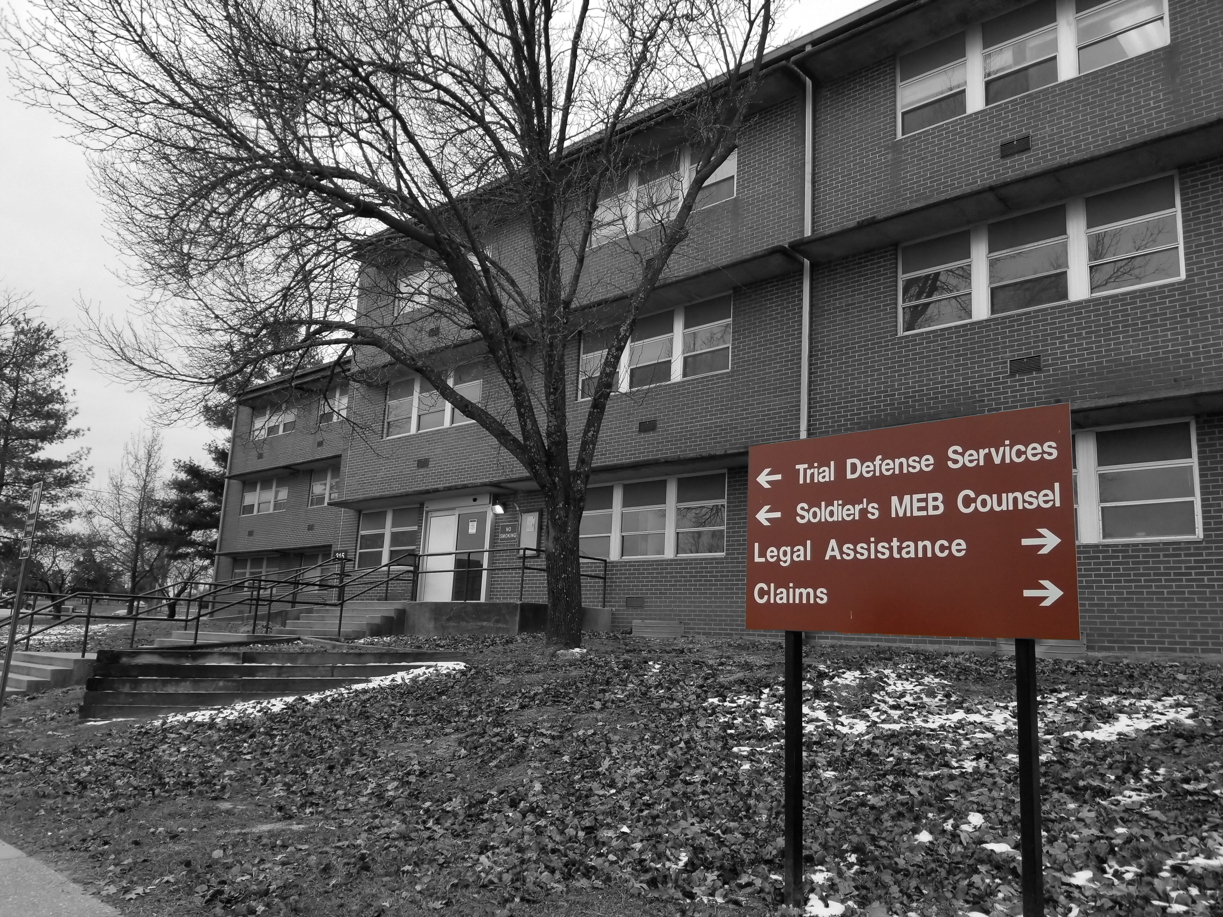 Trial Defense Services Office located at Fort Leonard Wood Missouri, First Floor, photo by Will M. Helixon (2017).
